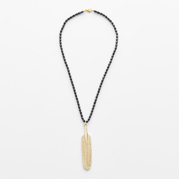 Gold Leaf on Black Beads