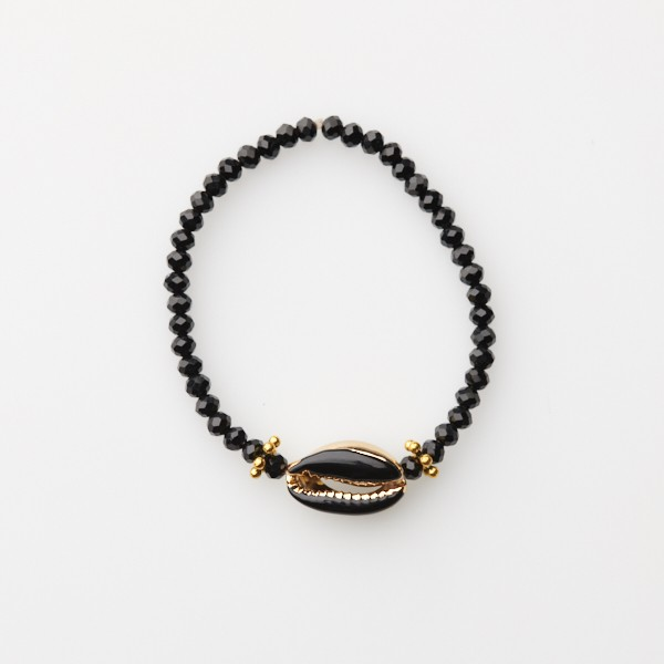 Bracelet with Shell and Glass Beads